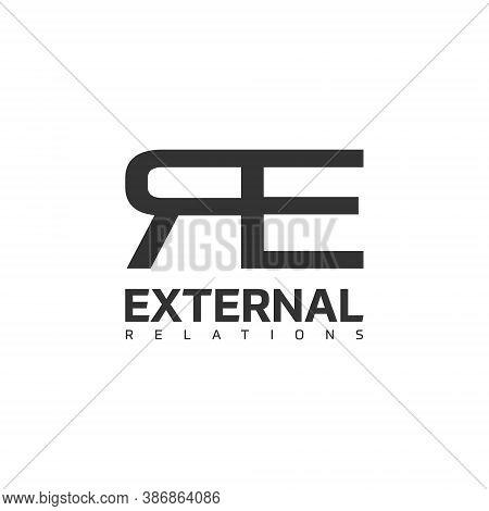 R E Letter Lettermark Logo Re Monogram - Typeface Type Emblem Character Trademark