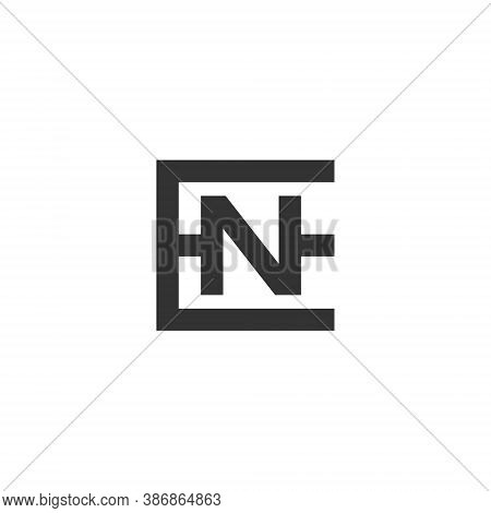 E N Letter Lettermark Logo En Monogram - Typeface Type Emblem Character Trademark
