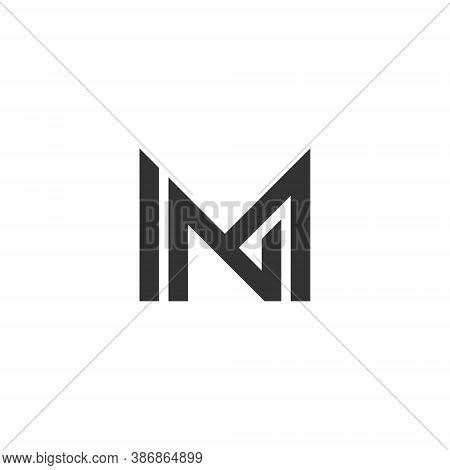 M N Letter Lettermark Logo Mn Monogram - Typeface Type Emblem Character Trademark