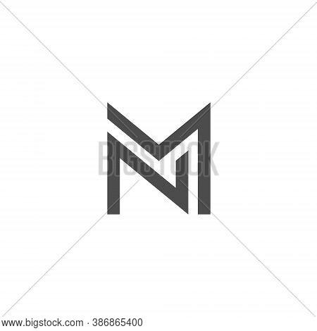 N M Letter Lettermark Logo Nm Monogram - Typeface Type Emblem Character Trademark