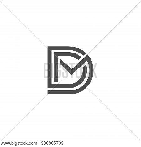 Dm Letter Lettermark Logo D M Monogram - Typeface Type Emblem Character Trademark