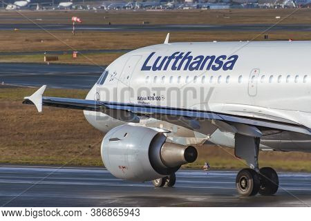 Airbus A 319 Lufthansa Airlines. Germany, Frankfurt Am Main Airport. 14 December 2019