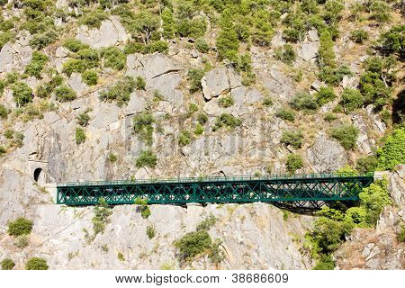 railway viaduct near Tua, Douro Valley, Portugal poster