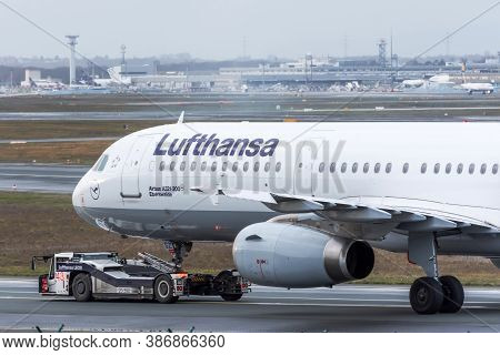 Airbus A321-200 Lufthansa Airlines. Germany, Frankfurt Am Main Airport. 14 December 2019