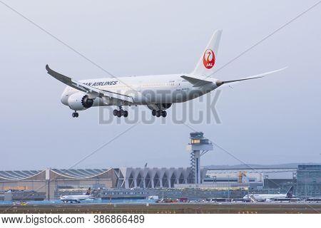Boeing 787 Jal Japan Airlines. Germany, Frankfurt Am Main Airport. 14 December 2019
