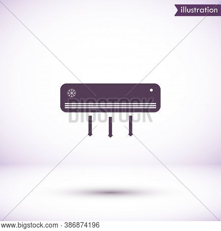Conditioning Vector Icon , Lorem Ipsum Flat Design