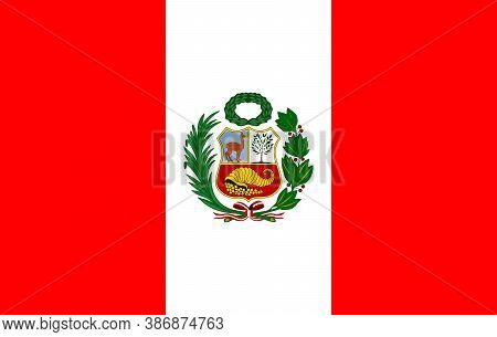 Vector Image Of The Flag Of The State Of  Peru. Flag In Vector Illustration