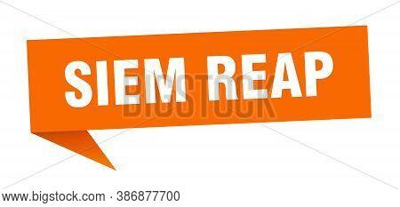 Siem Reap Sticker. Orange Siem Reap Signpost Pointer Sign