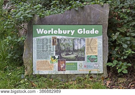 Weston-super-mare, Uk - October 8, 2011: A Sign Giving Information About Worlebury Glade In Weston W