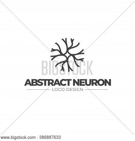 Neuron Logo Brain Cell Science Nerve Biology Neurology Medical Nervous Neural Network Receptors Mind