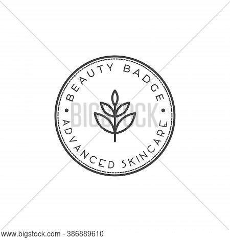 Wellness Leaf Logo Badge - Beauty Spa Flower Symbol Lotus Health Meditation Beauty Luxury Female Nat