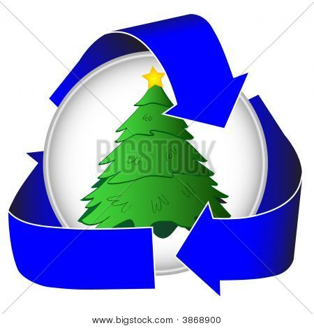 Christmas Tree Recycling Icon