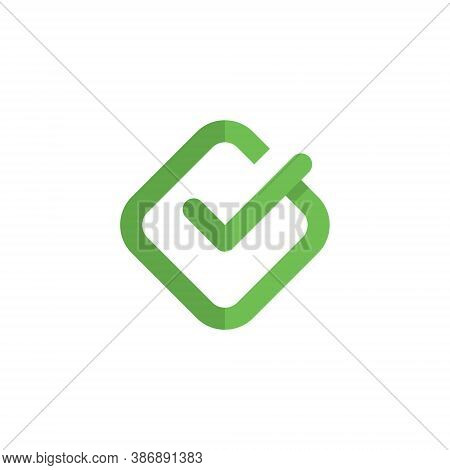 Check Mark Logo Design Vector - Yes Correct Vote Approved Right Box Choose Accept Positive Done Conf