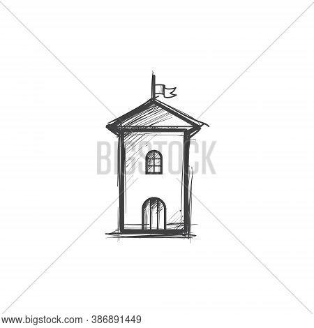 Tower Doodle Drawing Illustration Vector Art - Architecture Tourism Eiffel Historic Urban Romantic C