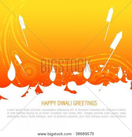 vector colorful happy diwali background poster