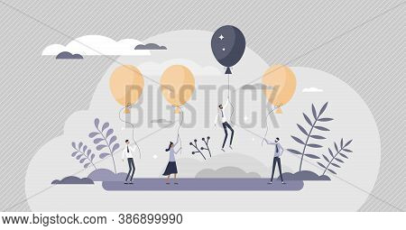 Stand Out As Special Advantage And Success Breakthrough Tiny Person Concept. Business Difference Wit