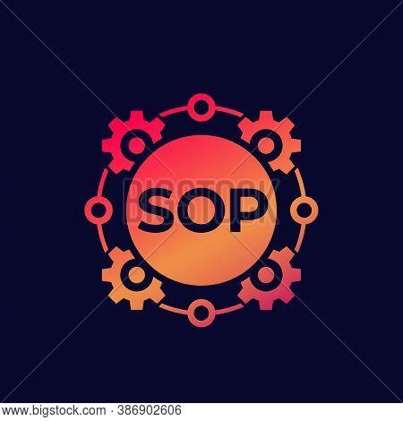 Sop Icon, Standard Operating Procedure, Vector Art, Eps 10 File, Easy To Edit