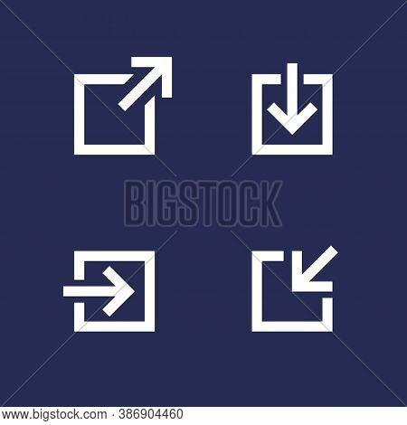 External Link, Download, Login Vector Icons, Eps 10 File, Easy To Edit