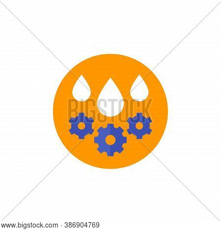 Lubricant, Oil Drops, Flat Icon, Eps 10 File, Easy To Edit