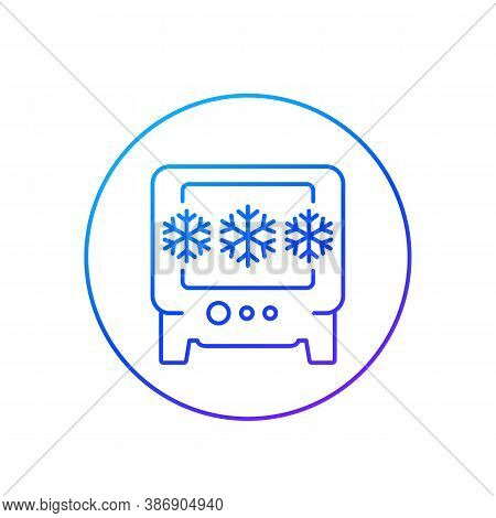Industrial Fridge Or Freezer Line Icon, Eps 10 File, Easy To Edit