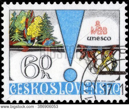 Saint Petersburg, Russia - May 31, 2020: Postage Stamp Issued In The Czechoslovakia Dedicated To The