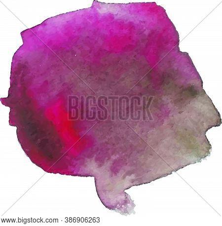 Watercolor Splash Texture. Vector Brush. Watercolor Gradient.