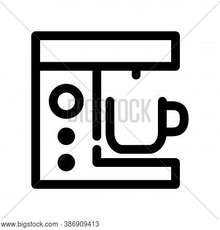 Coffee Machine Outline Icon. The Item From Set Dedicated To Coffee And Coffee Shops, As Well As Rela