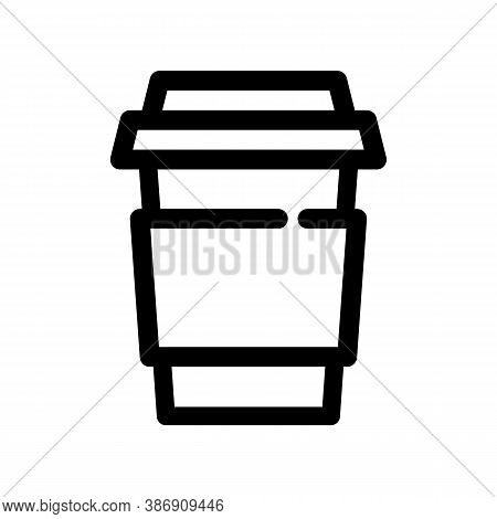 Paper Coffee Cup Outline Icon. The Item From Set Dedicated To Coffee And Coffee Shops, As Well As Re