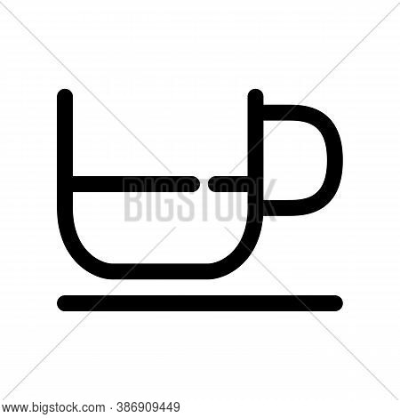 Small Coffee Cup Outline Icon. The Item From Set Dedicated To Coffee And Coffee Shops, As Well As Re