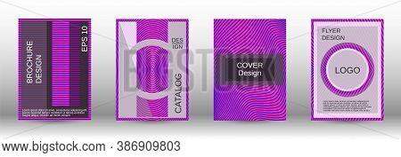 Purple Modern Design Template In Trendy Style. Trendy Flat Illustration With Modern Design Template.