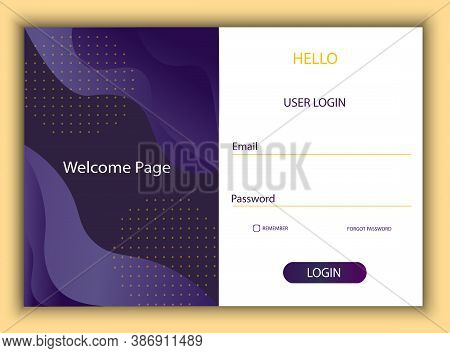 Colorful Pre-registration Page Layout. Log In To Your Personal Account On The Website Or In The Appl