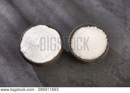 Refined Sugar - Stevia Powder. Stevia Rebaudiana Substitute Of Sugar Refined By Stevia.