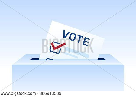 Voting Concept, Elections Illustration. Election Day. Ballot Paper