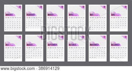 Calendar Template For 2021 Year. Business Planner. Corporate And Business Calendar. Week Starts On M