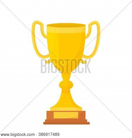 Golden Cup, Trophy, Awwrd, Simbol Of Champion Isolated On White Background Stock Vector Illustration