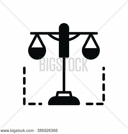 Black Solid Icon For Constitutional Authority Balance Constitutional-law Courthouse Judgment Licit
