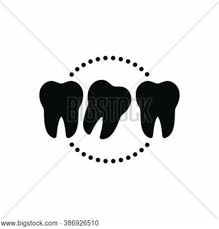 Black Solid Icon For Loose Lax Not-secure Relaxed Tooth Dental Dentistry Health Hygiene Medical Mout