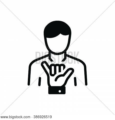 Black Solid Icon For Loose Shaka Lax Not-secure Relaxed Gesture Hand People