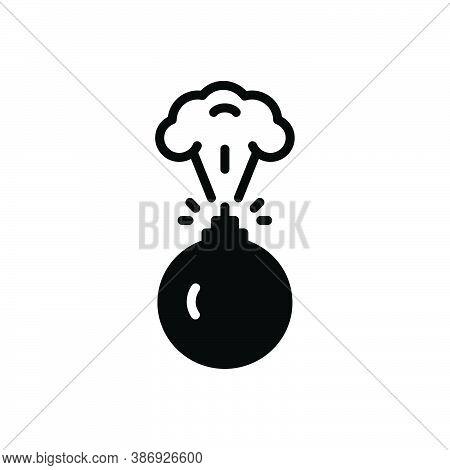 Black Solid Icon For Bombing Destruction Bombs Blast Conflict Danger Destruction Explosion Fire Risk