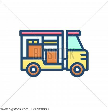 Color Illustration Icon For Shipping Transportation Delivery Distribution Export