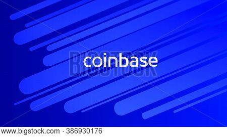 Coinbase Cryptocurrency Stock Market Name On Abstract Digital Background. Crypto Stock Exchange For