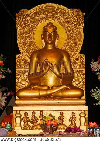 A Very Ancient & Famous Statue Of Lord Gautama Buddha In Varanasi Temple Called As