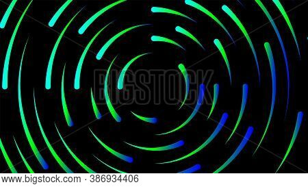 Circle Line Colorful Bright For Modern Background, Light Neon Effect Motion With Line Mixed Color, G