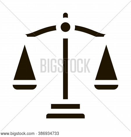 Scales Law And Judgement Icon Vector . Contour Illustration