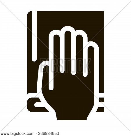 Constitution Book Law And Judgement Icon Vector . Contour Illustration