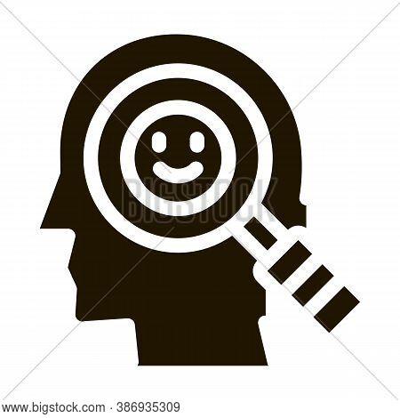 Optimistic Way Of Thinking Biohacking Icon Vector . Contour Illustration