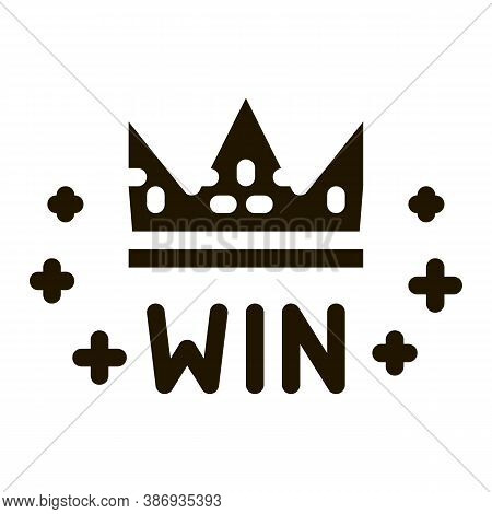 Winner Crown Betting And Gambling Icon Vector . Contour Illustration