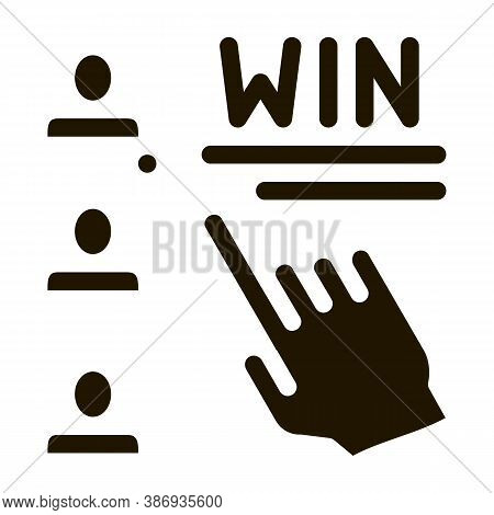 Choose Winner Betting And Gambling Icon Vector . Contour Illustration