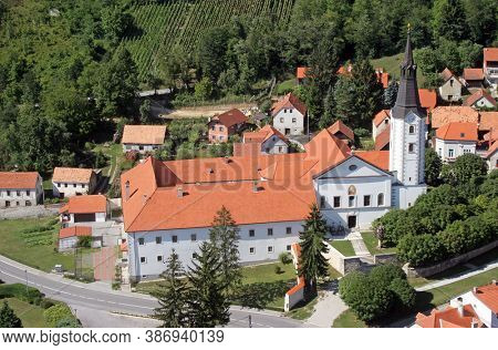 Parish Church of the Assumption of the Virgin Mary and Franciscan Monastery in Klanjec, Croatia