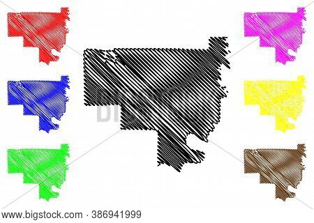 Crawford County, Indiana (u.s. County, United States Of America, Usa, U.s., Us) Map Vector Illustrat